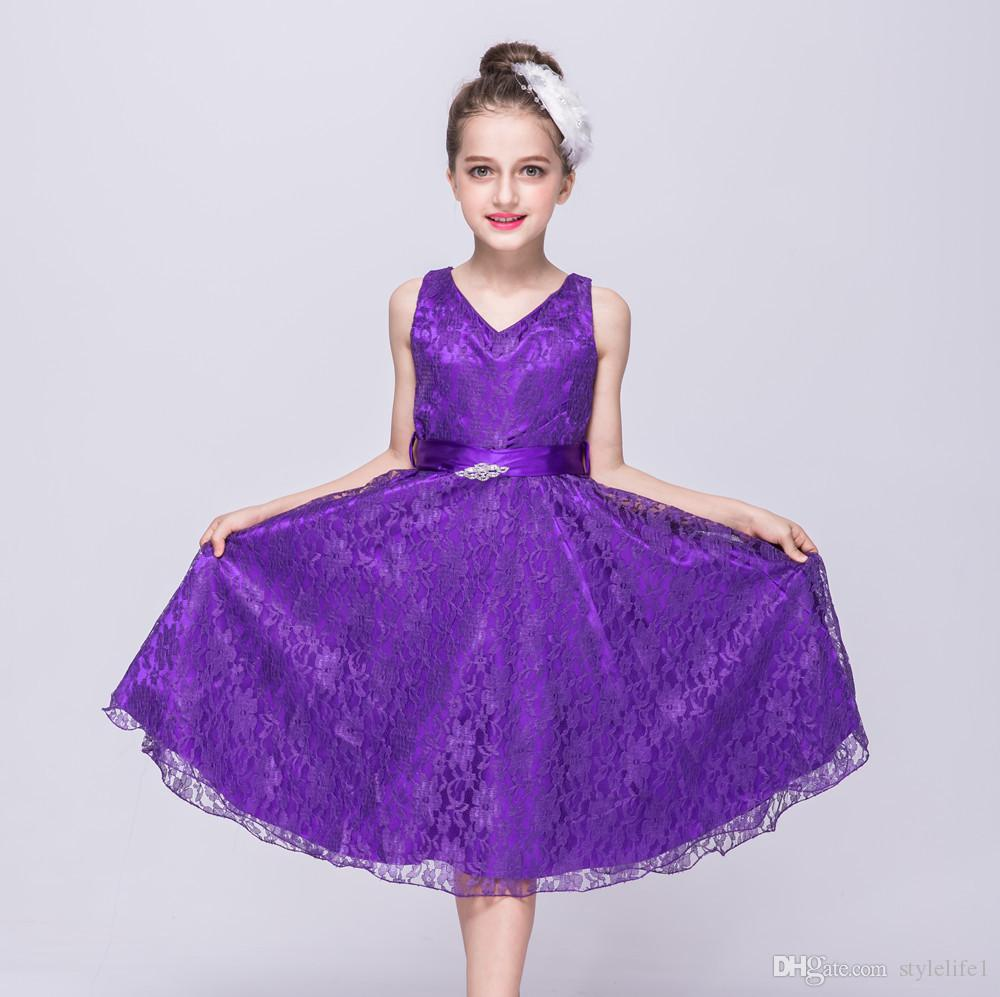 New design Beautiful flower girl dresses evening wear Wedding Party ...