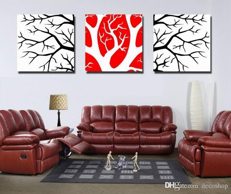 Moderna Fina Árvore Abstrata Pintura Giclee Impressão Em Canvas Wall Art Home Decoração Set30294