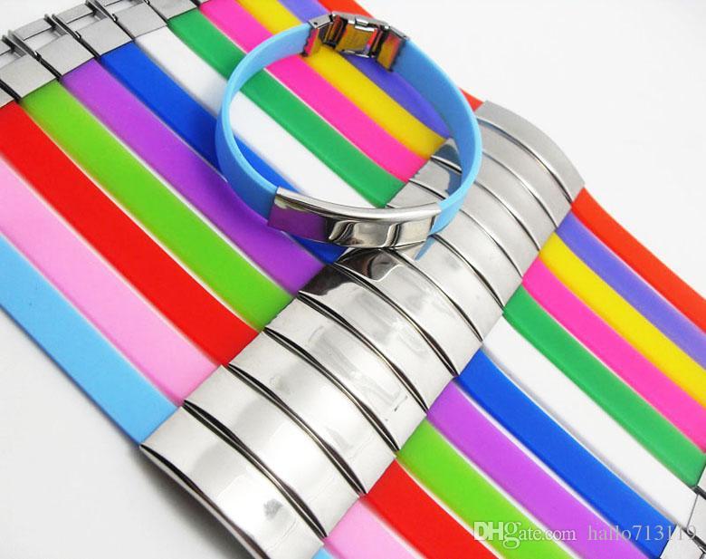 24 pcs Colorido CRUZ de aço inoxidável pulseiras de Silicone Homens Mulheres Moda Pulseiras 12 Cor Top Mix Bangle atacado moda jóias muito