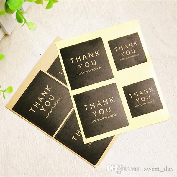 Simple Black Square Thank You Sticker Decorative Sealing Paster Letter Stickers Decoration Supplies From Sweet Day 10 89 Dhgate Com