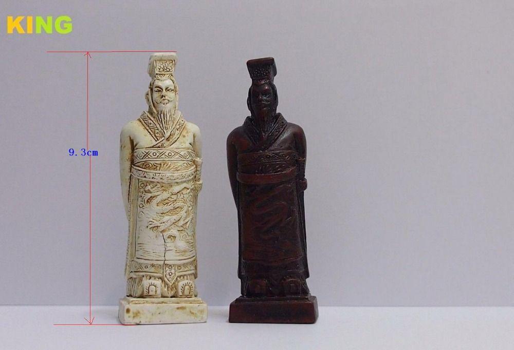 Novo jogo de xadrez chinês (guerreiros de terracota) 32 peças - tamanho grande (apenas xadrez)