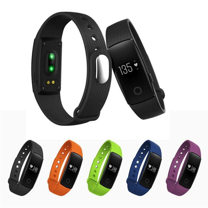 1PCS ID107 Heart Rate Smart Band Fashional Sport Bluetooth 4.0 Wristband Smart Bracelet Fitness Tracker Remote Camera For Android IOS