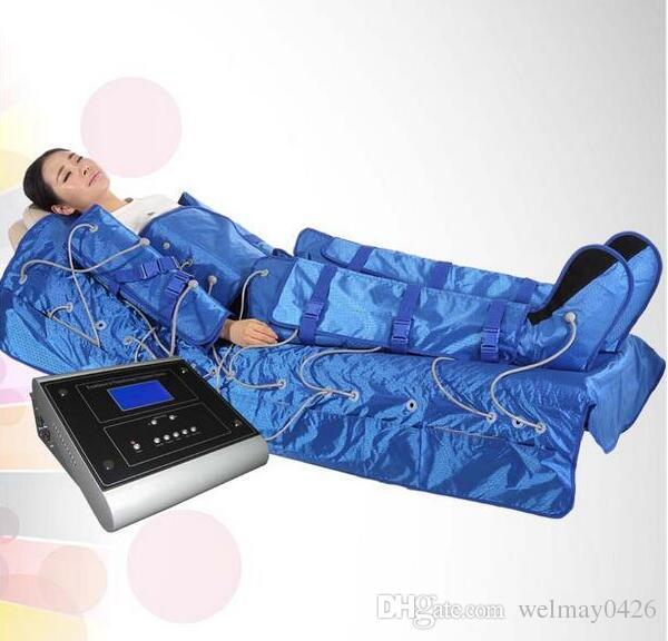 3 em 1 infravermelho distante máquina presoterapia infravermelho liner drenagem drenagem ems emagrecimento massagem máquina terno