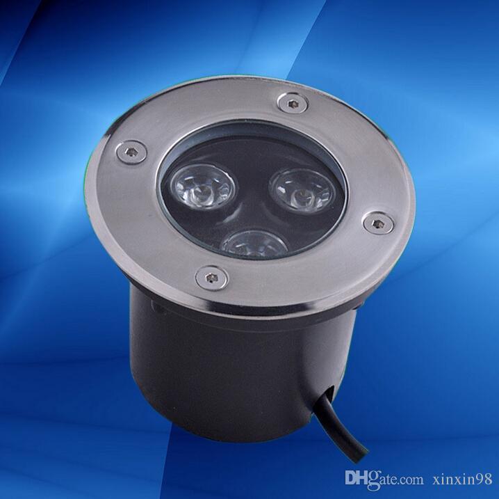 40pcs / lot 3x3W chaud blanc froid CERoHS AC110V / 220 Lampe à LED souterrain étanche IP68 LED Spot sol Jardin LED cour lumière souterraine