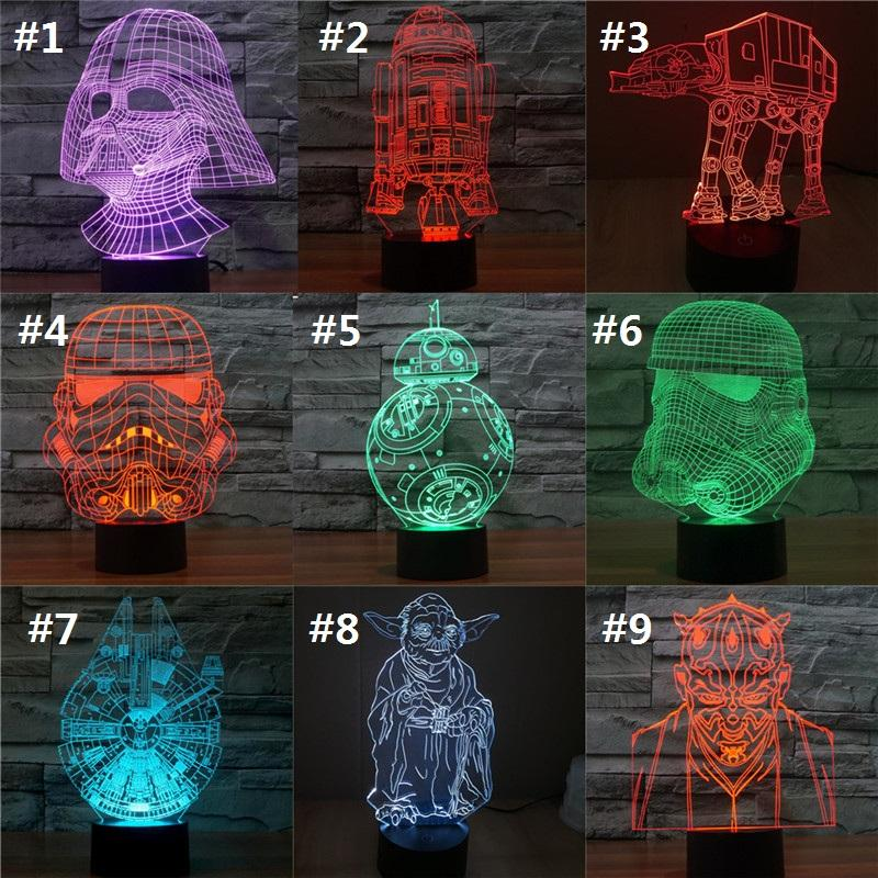 2019 Wars Changing Figure Led Millennium Coolshops 7 Darth Vader Colorful Action Falcon Bb8 Visual Illusion Superhero Lamp 3d Star Toy Light From ZPkOXwuiTl