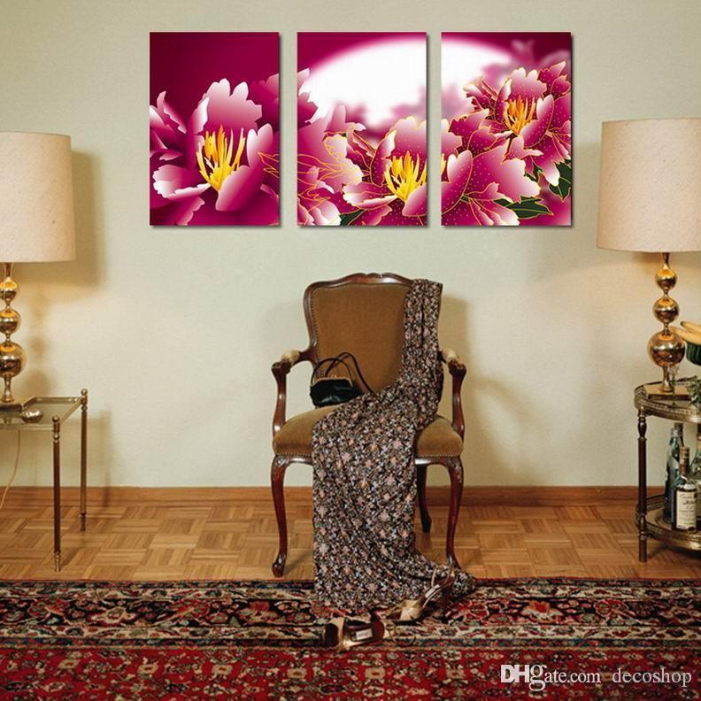 현대 아름다운 꽃 좋은 꽃 그림 캔버스에 Giclee 인쇄 홈 장식 벽 예술 Set30351