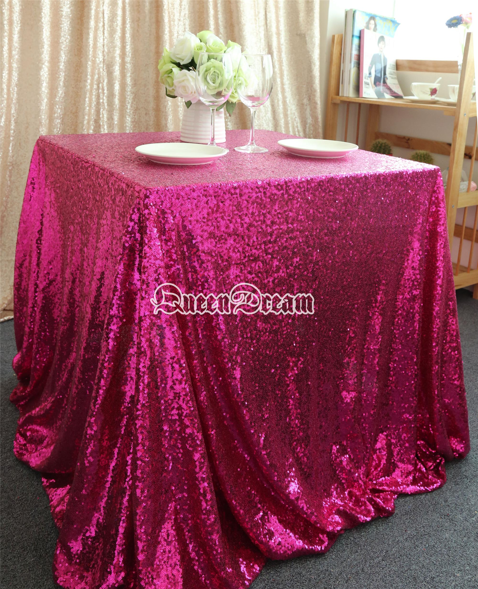 96 Square White Sequin Tablecloth Or Table Cloth For Wedding Linen ...