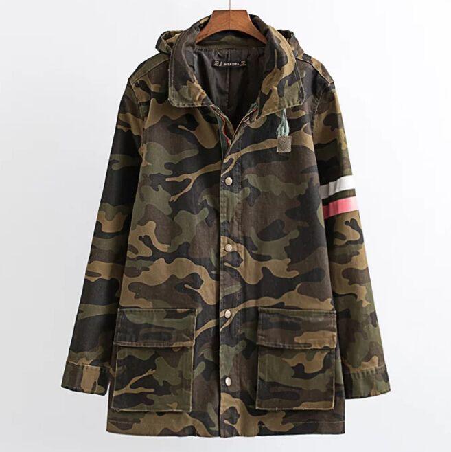 Jacke Frauen Mujer Mantel 69 Auf Für com Chaquetas Armee Camouflage Großhandel Kleidung dhgate Grün Herbst Von Cinda0173 De Gedruckt kuPOXZi