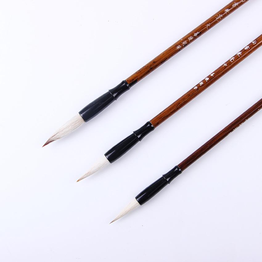 3 Pcs/Set Top Quality Chinese Calligraphy Brushes Pen for Woolen and Weasel Hair Writing Brush Fit For Student School