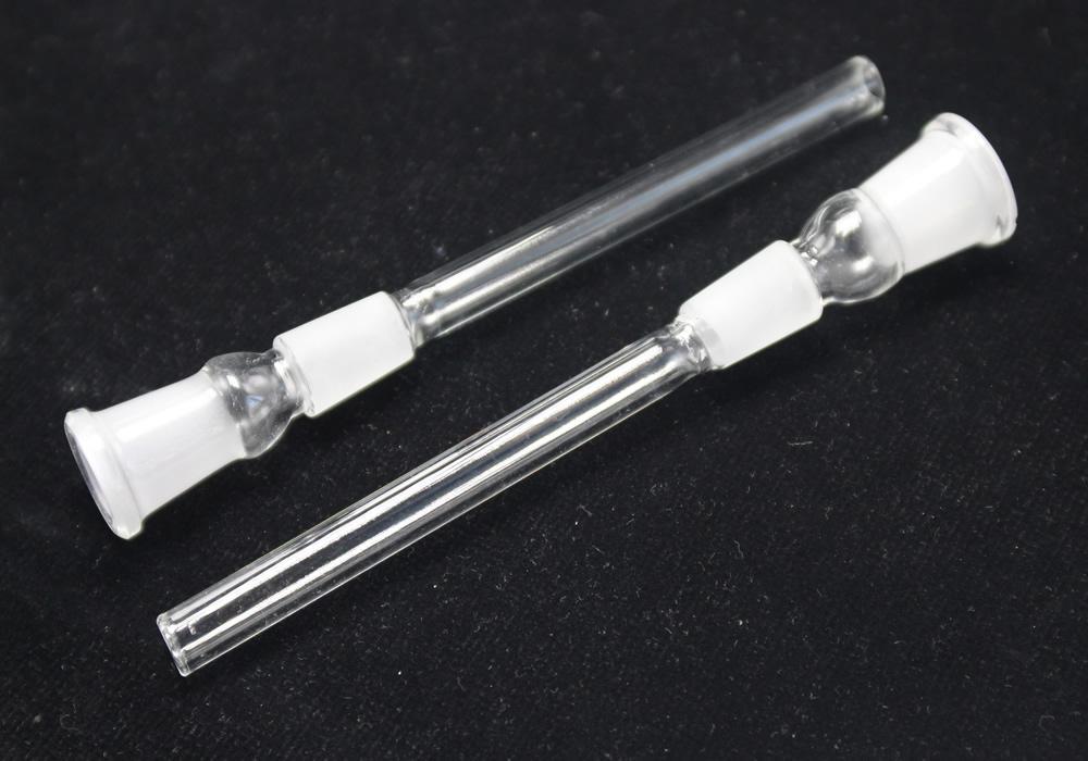 Venda Hot Glass Downstem tubulação de 14 milímetros 19 milímetros Feminino de Vidro Grosso Downstem Difusor de Down Stem tubos de vidro Bong Adapter downstems