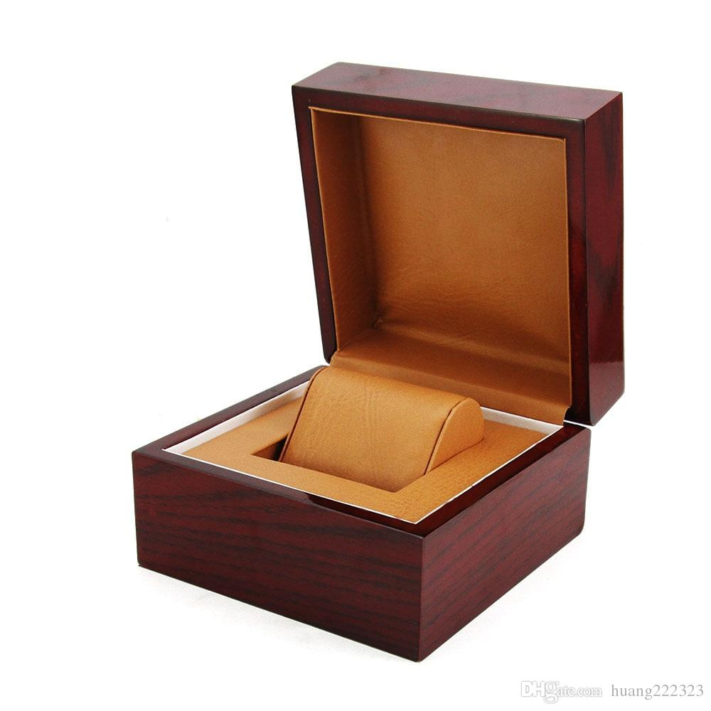 Factory Supplier Wholesale Fashion Luxury Wood Watch Box Jewelry Storage Case Gift Box With Pillow Watch Box with Paper Booklet Card Tags