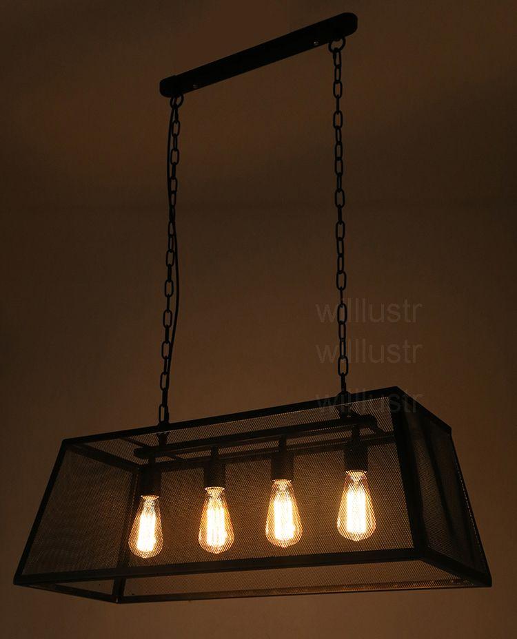 Acheter Lampe De Suspension Trapézoïdale, Suspension Trapézoïdale,  Suspension, Éclairage, Long, Cadre Métallique, Maille, Suspension, Lumière,  ...