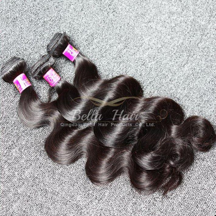 مزيج لحمة مزدوجة طول 10-24 بوصة الماليزي الشعر نسج 4pcs / lot كامل رئيس اللون الطبيعي 9A الجسم موجة الشعر البشري