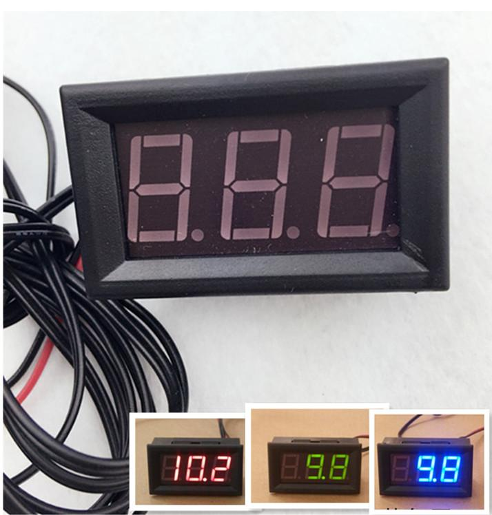 10pcs /lot DC 5-12V Digital Thermometer tester With Temp Probe Monitoring Meter multi-usage -50~110C Detector Temperature Controller