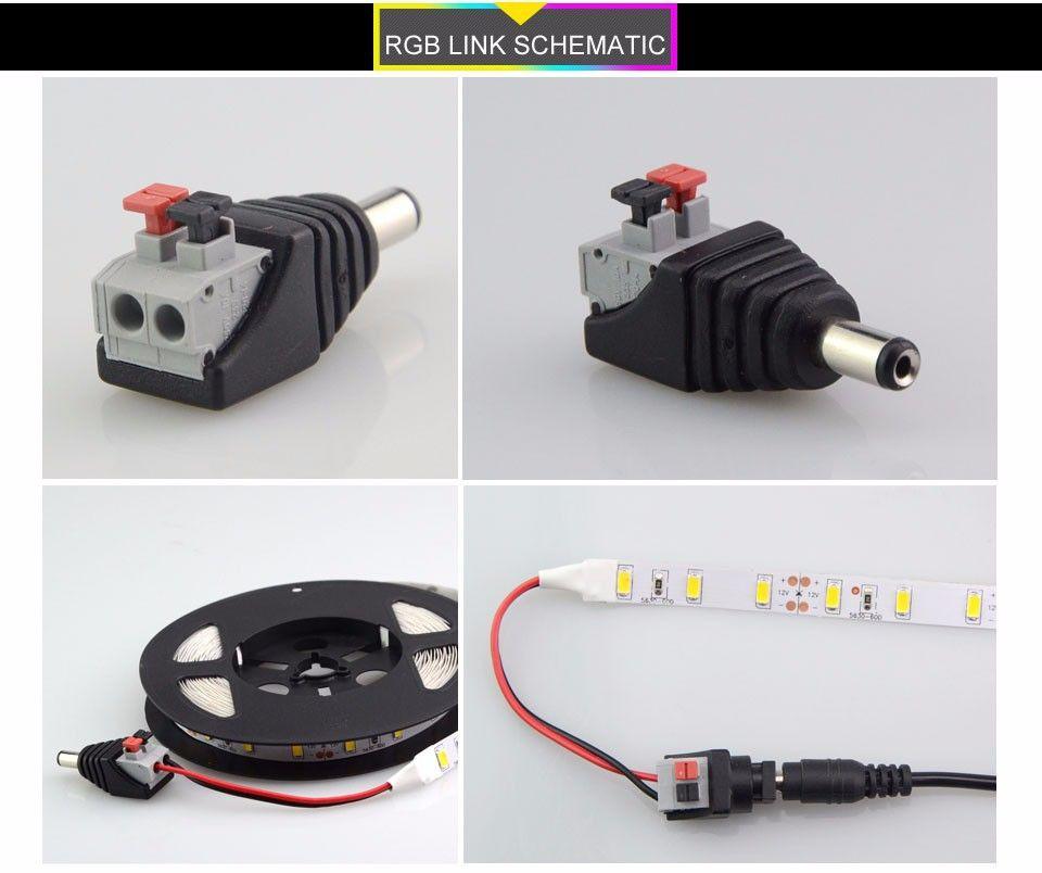 5.5x2.1mm Male Connector Plug Mark Polarity DC Power Jack Connector ...