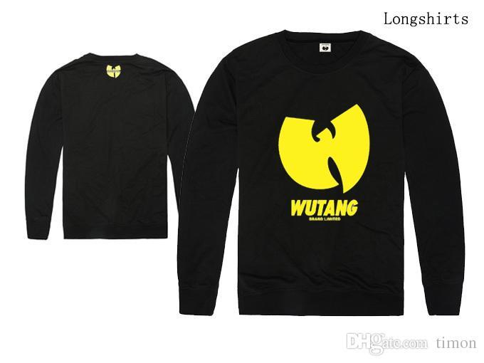 T-shirts pour hommes WU TANG chemise à manches longues Printemps Automne vêtements sport décontracté Tops Tees T-shirt en laine à col rond