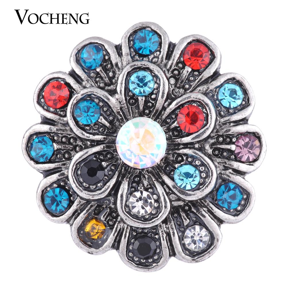 NOOSA 18mm Snap Charms Wildflower Love Snap 3 Couleurs Vintage Bijoux VOCHENG Vn-1098