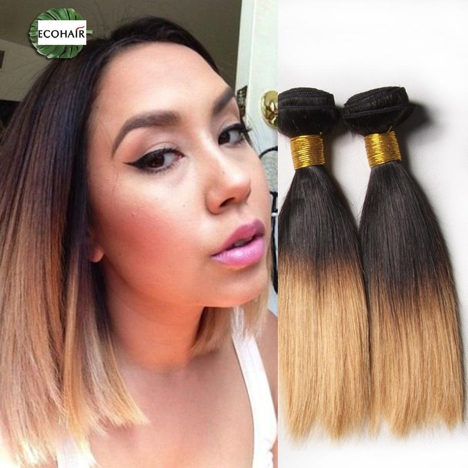 New hair trends cheap ombre indian bob short straight hair new hair trends cheap ombre indian bob short straight hair extensions 1b30 27 dark root colored ombre two tone kinky straight hair 2018 from ecohair pmusecretfo Image collections