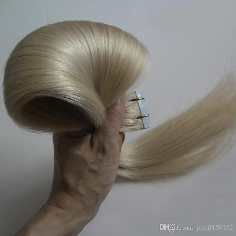 # 613 Nastro per capelli biondi brasiliani con candeggina in estensioni Capelli biondi per capelli 20 pezzi 50 g Estensioni per capelli con trama dritta