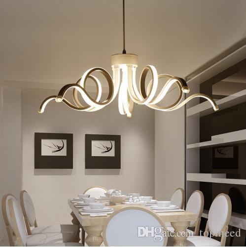 Modern Avizeler LED Cilalar Beyaz Lamparas De Techo Luminaria Işık Restoran Cafe Yemek Odası için Avize Avize Endüstriyel Ev Aydınlatma Lumin