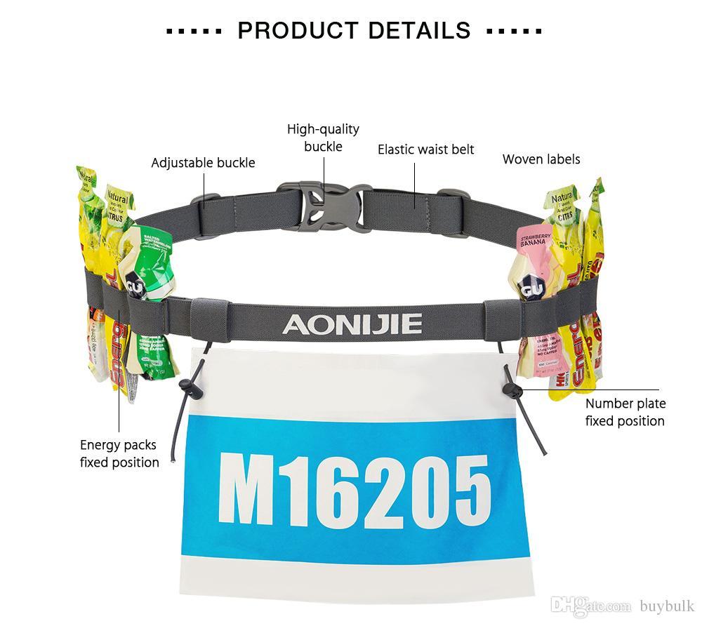 AONIJIE Unisex Outdoor Sports Triathlon Marathon Running Race Number Plate Belt