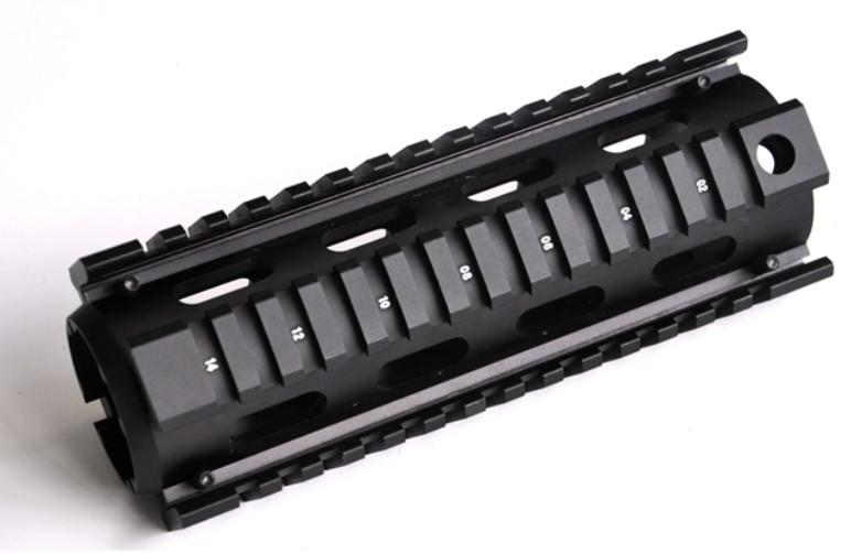 Tactical Picatinny Carbine Length AR15 Quad Rail System Mount with 12 Rubber Covers