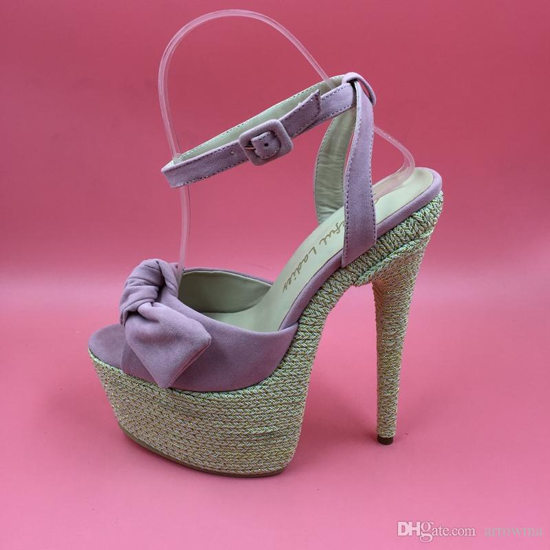 Deep Pink Real Wedding Bridal Shoes