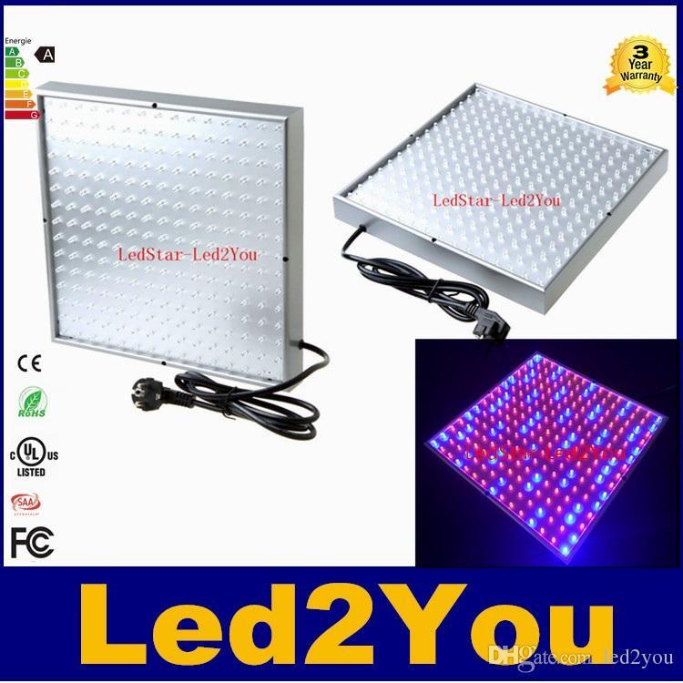 Led Grow Lamp 225 LED Hydroponic Plant Grow Light Panel Red/Blue 15W LED Plant Grow Lights 900lm 225LEDs Panel Lights 110-220V Freeshipping