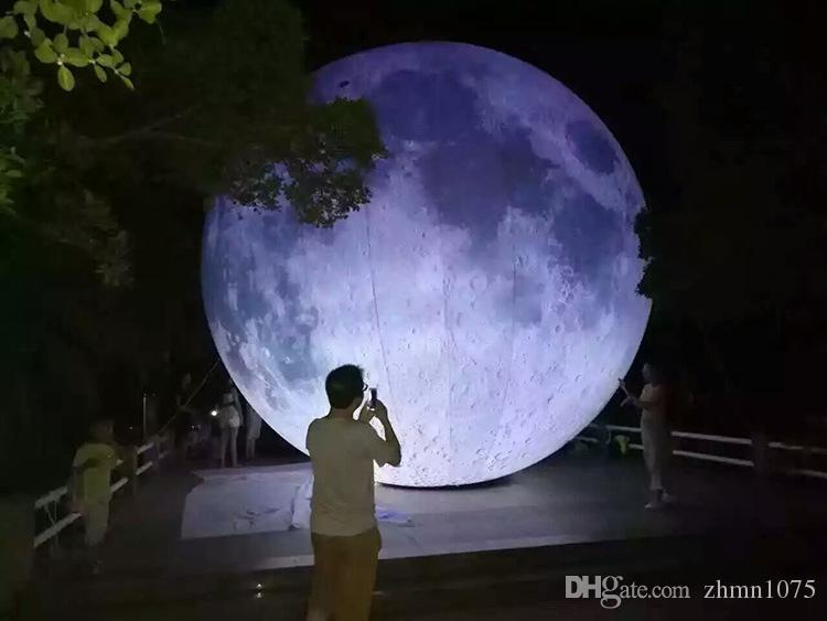 (специализированный магазин) Сид раздувной Луны имитации Луны шарика Луны искусственной включенное, пневматический насос, польза для большой партии,celebra празднества