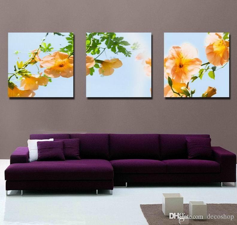 Modernas Belas Flores Finas Pintura Floral Giclee Impressão Na Lona Home Decor Wall Art Set30268