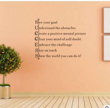 YC2093 Englisch Sprichwrter Persnlichkeit Wohnzimmer Schlafzimmer Dekorative Aufkleber Geschnitzte Wandaufkleber