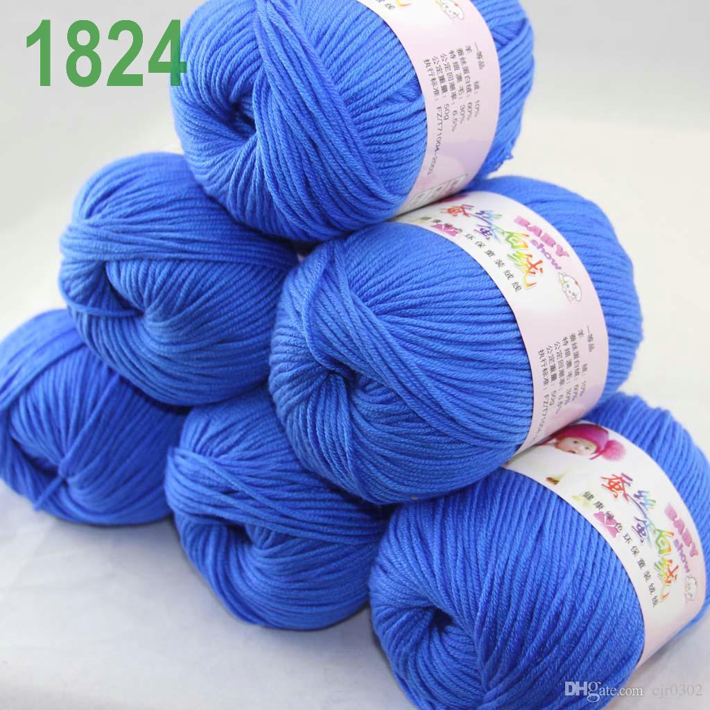 Продажа лот 6 шаров х 50 г кашемир шелковый бархат детская пряжа синий 18-24
