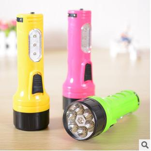 E2521 grande torcia elettrica di ricarica 527 luce esterna sei casa lampada torcia a LED torcia di plastica