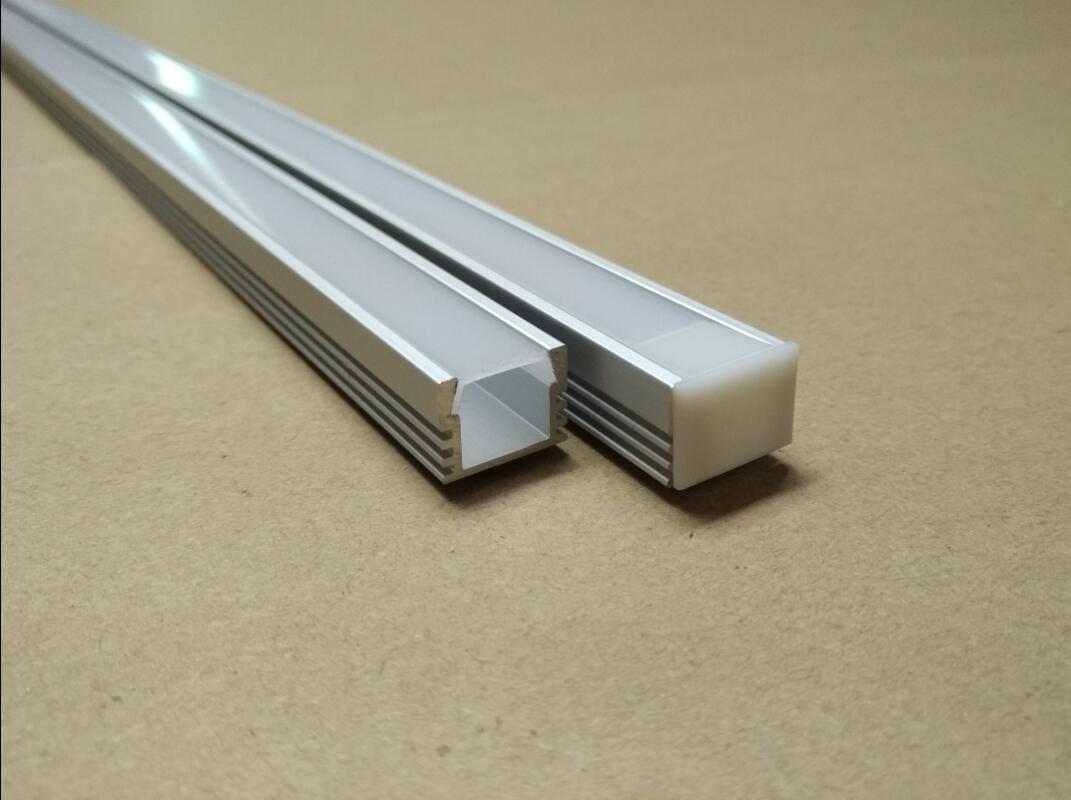 Consegna gratuita Costo qualità 2M Alta / PCS 20Pcs / lot U in alluminio forma del profilo condotto gola in alluminio con set di copertura e copertura del PC della clip per barra led