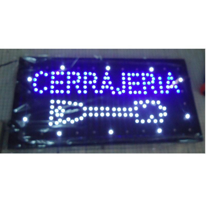 2016 Venta caliente Customed Power Power 10x19 pulgada Semi-al aire libre Ultra brillante Running Cerrajeria Shop LED Sign al Por Mayor
