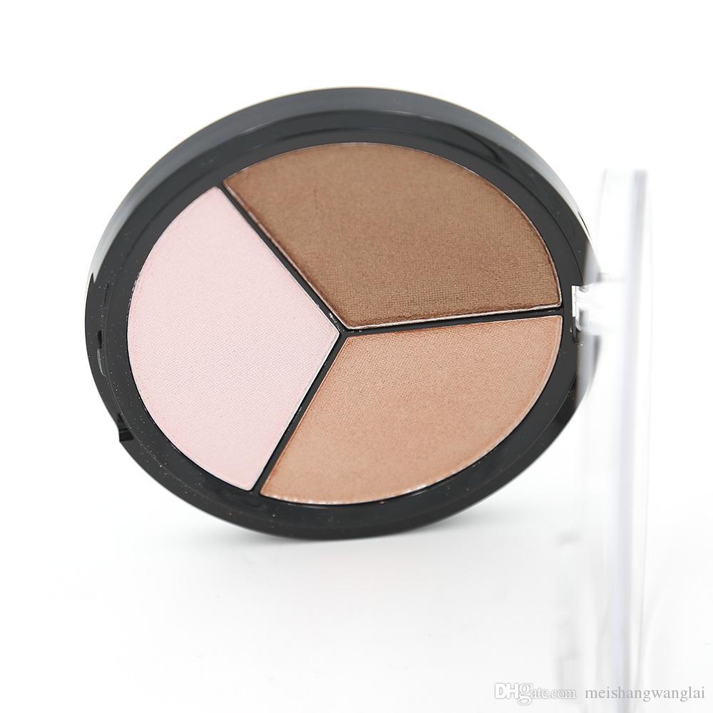 Contour Powder Kit Highlighter 12 piezas Professional Makeup Face 3 Colores Capacidad de reparación en polvo Paleta 55092