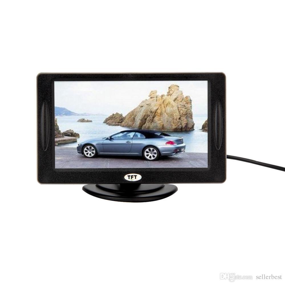 """Классический стиль 4.3"""" TFT LCD заднего вида автомобильные мониторы для DVD GPS обратный резервного копирования камеры автомобиля вождения аксессуары"""