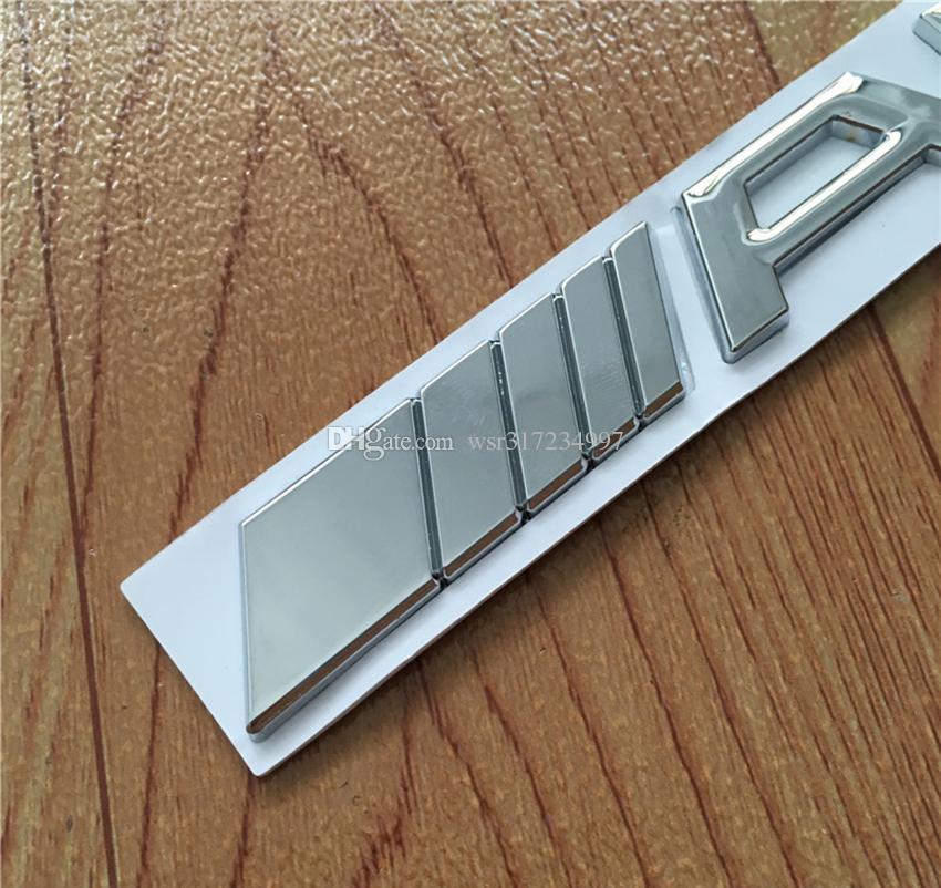 10pcs de haute qualité / lot Métal Argent Chrome Noir 3M A-M-G Decal Logo Emblem Badges voiture pour CL GL SL ML A B C Classe E S