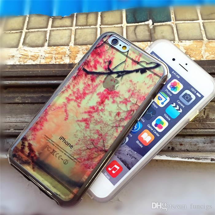 Cheap mobile phone case PC+TPU 2 in 1 hybrid printing case for iphone 6/6s soft cell phone back cover