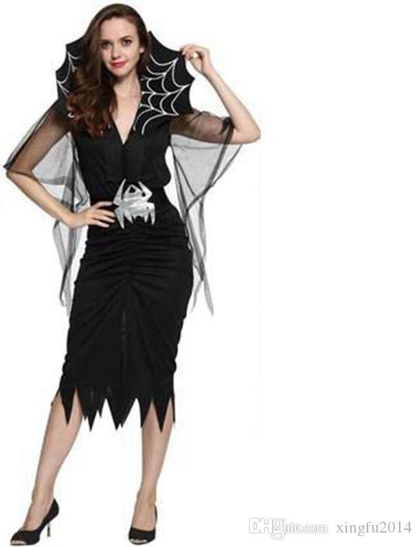 Magic Witch Halloween Costumes for women carnival Cosplay Costume Princess Party Dresses girls sexy outfit