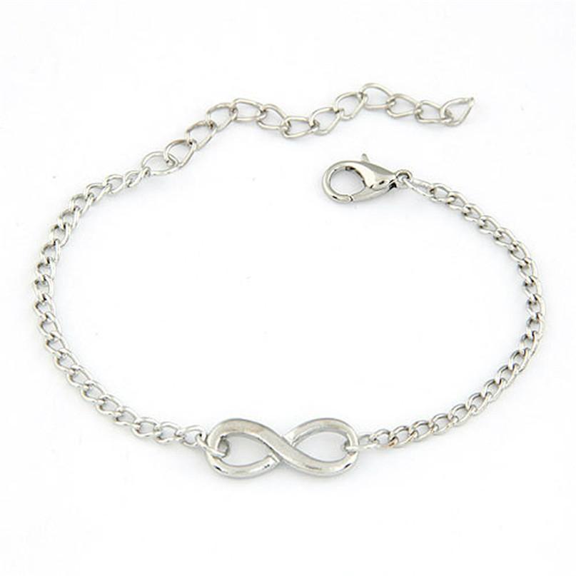 Atacado-moderno New Women Men handmade presente charme 8 forma jóias infinito pulseira WSep23