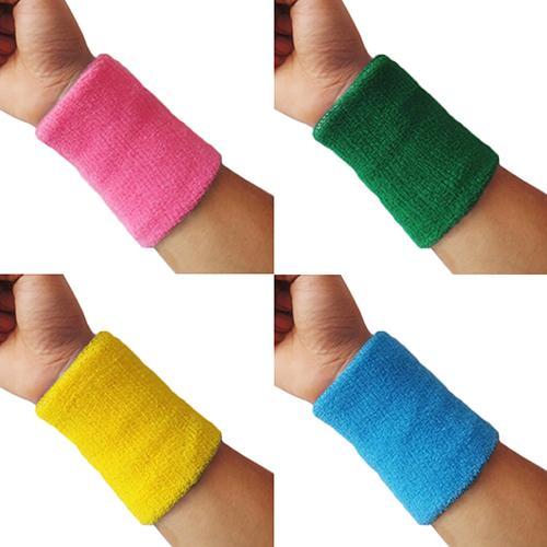 Sold in Pairs Sports Wrist Sweatbands Tennis Squash Badminton GYM Wristband UK