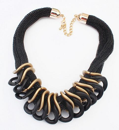 DHL free shipping European and American fashion brand necklace Punk Plastic Chian necklace chocker necklace accessories for Women