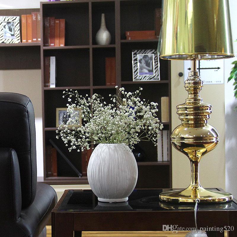 Hot Fashion White Ceramic Flower Vase for Homes Vasi decorativi Decorazione domestica Modern o Wedding Decoration 3N007
