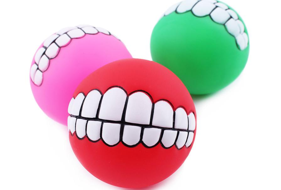 Livraison gratuite épais vinyle son résistant à la morsure chien chien Speelgoed dents balle chien chien de formation jouets 30 pcs / lot