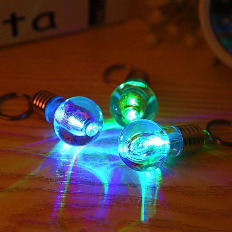 Lovely bright LED lighting mobile phone chain Mini chameleon Keychain unbreakable Nightlight