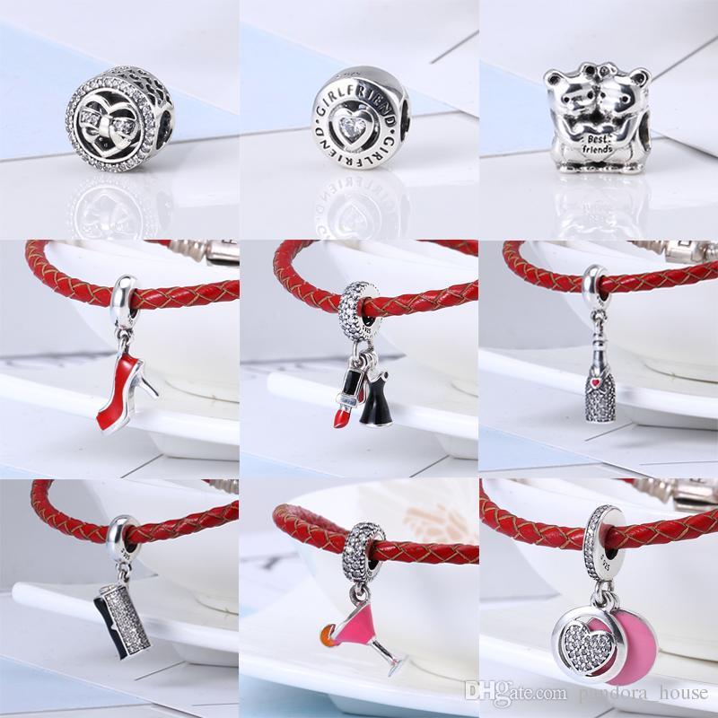 2017 Nouvelle Arrivée Collection Automne Fit Pandora Bracelet 100% Haute Qualité 925 Sterling Argent Perles Charmes Bricolage Fabrication de Bijoux