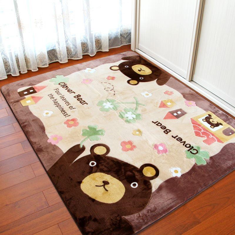 Wohnzimmer Schlafzimmer Mat Pastoral Kinder Spiel Gym Teppich Waschbar Teppiche Anti Rutsch