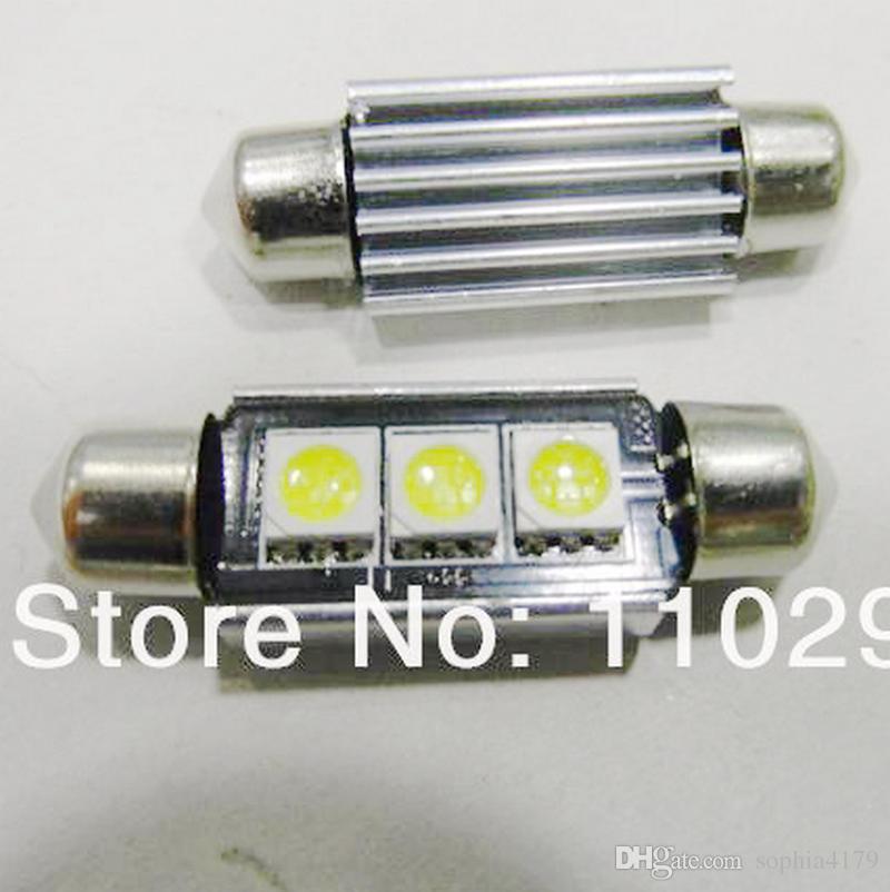 20pcs 3 SMD CANBUS 3 LED Canbus LED Festoon Dome Inetrior que lee las lámparas de la bombilla automática