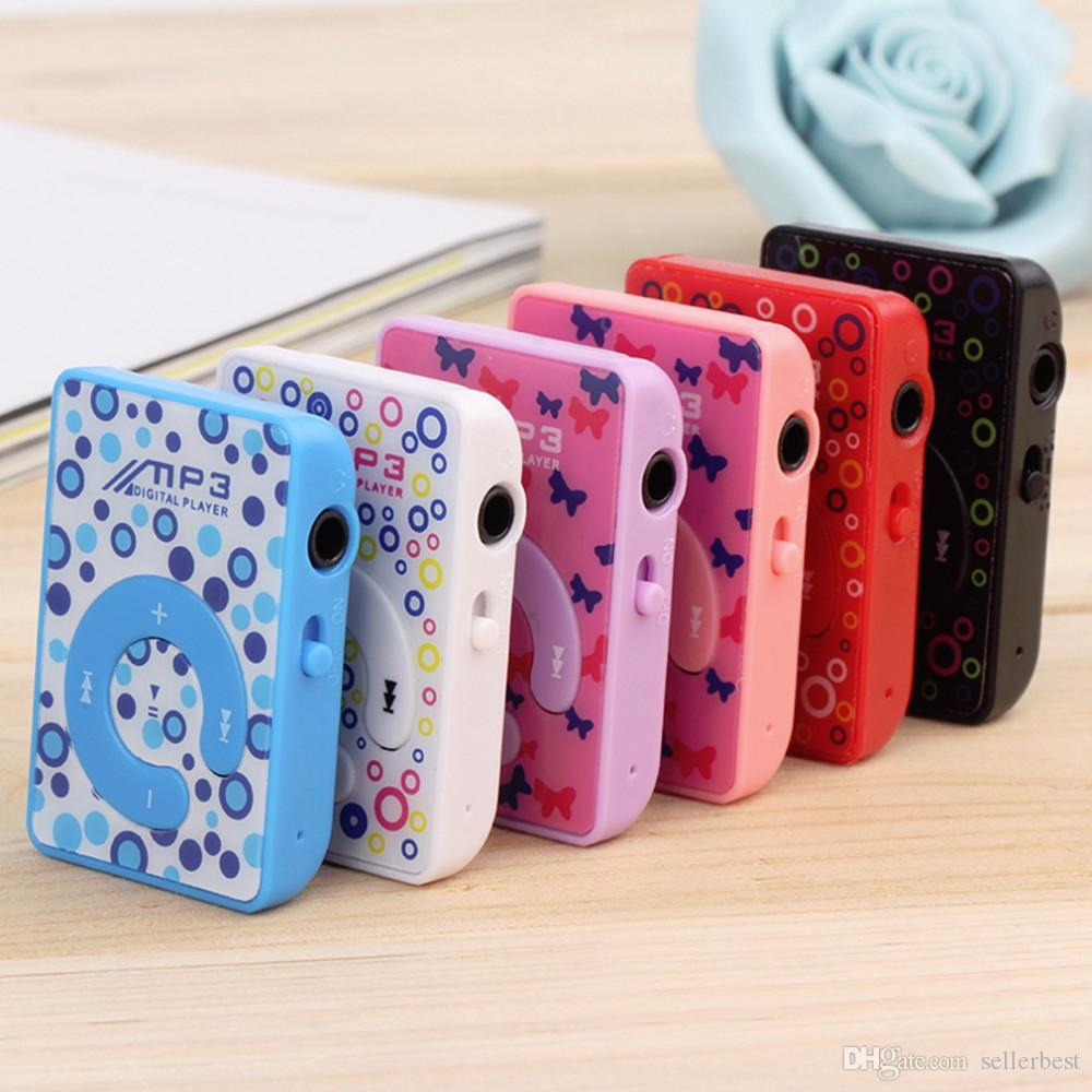 Quality Print Mini Clip MP3 Music Player with Micro TF/SD card Slot, 5 Colors (ONLY MP3 Player, NO USB, NO headphone)